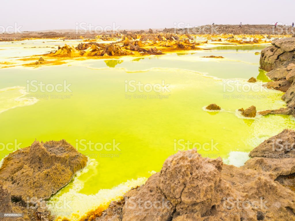 Dallol in Danakil Depression, Ethiopia - foto de stock