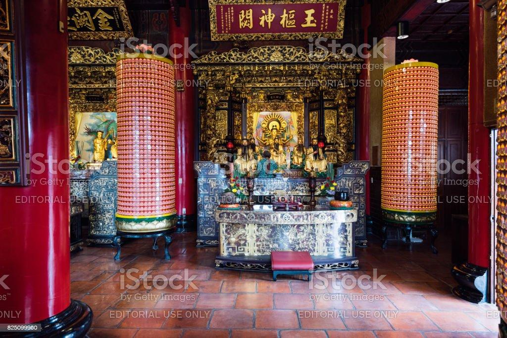 Dalongdong Baoan Temple in Taipei, Taiwan stock photo