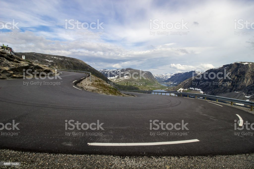 dalsnibba viewpoint in Norway royalty-free stock photo