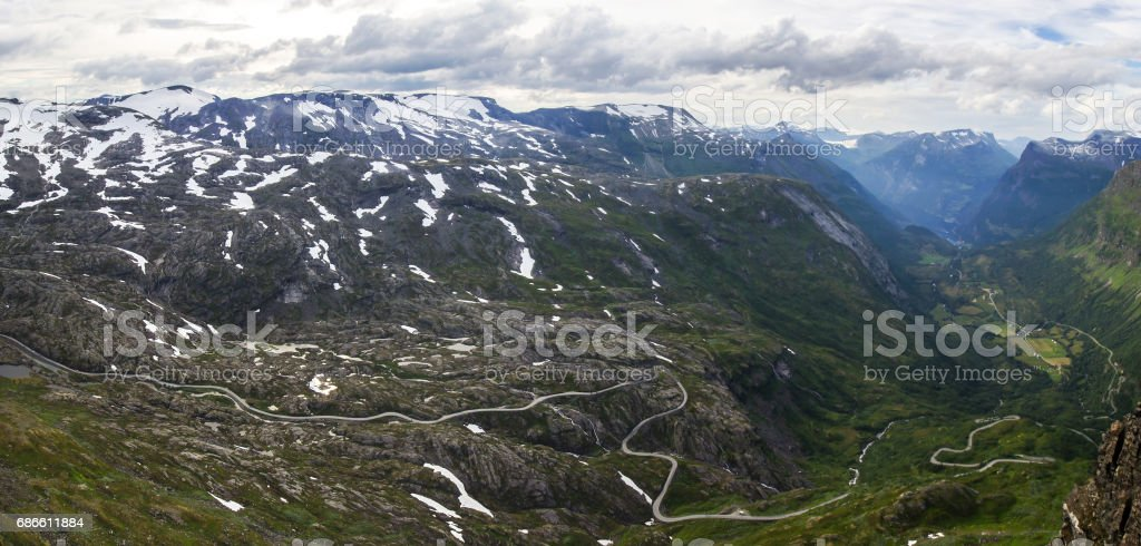Dalsnibba viewpoint near Geiranger in Norway royalty-free stock photo