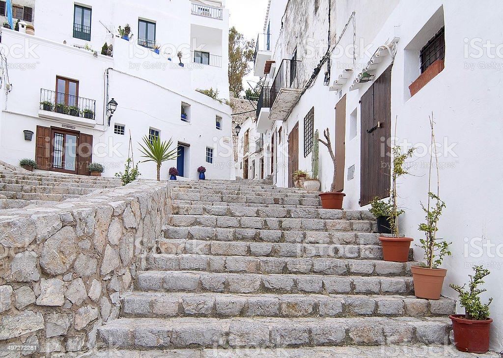Dalt Vila, Eivissa (Spain) stock photo