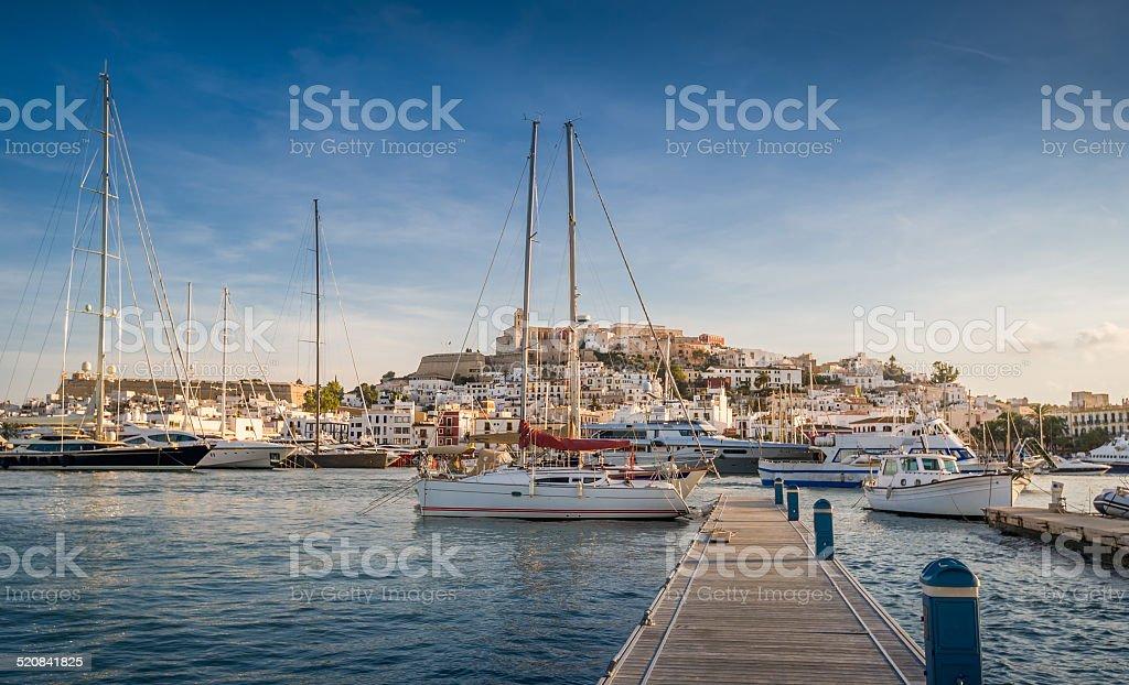 Dalt Vila fortress stock photo