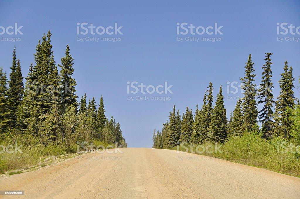 Dalton Highway, polar region in Alaska royalty-free stock photo