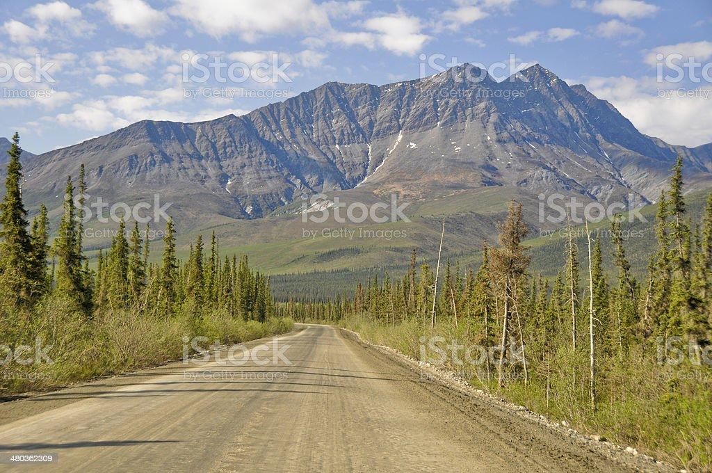 Dalton Highway, polar region in Alaska stock photo