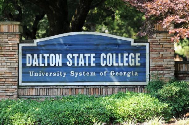 Dalton State College sign stock photo