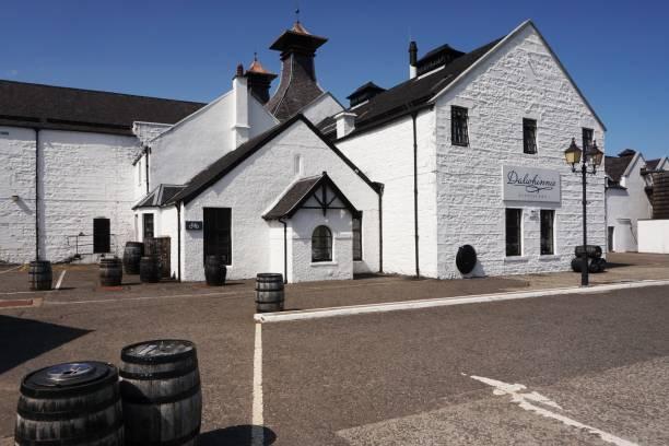 Dalwhinnie Distillery stock photo