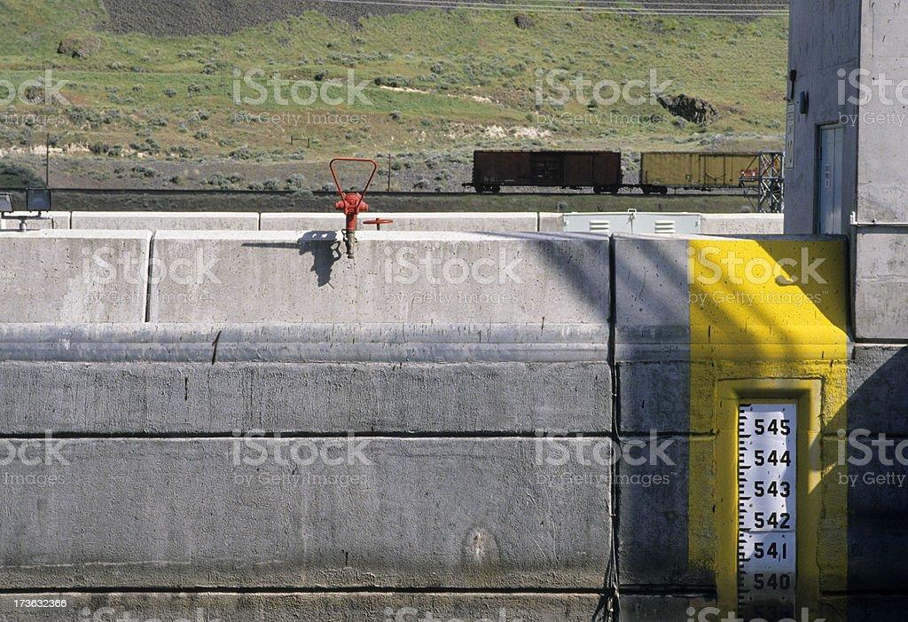 Dam and locks on Snake River in Washington state royalty-free stock photo