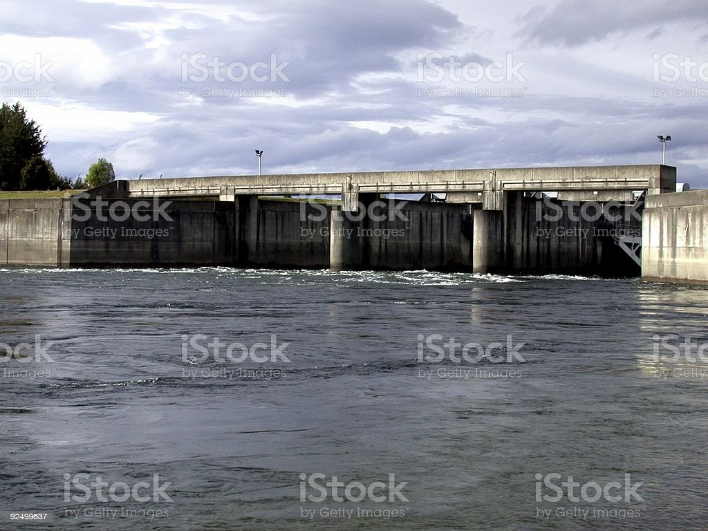 Dam and Spillway royalty-free stock photo
