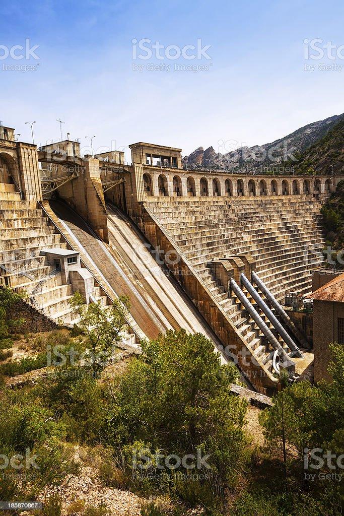 dam at Segre river.  Lleida stock photo