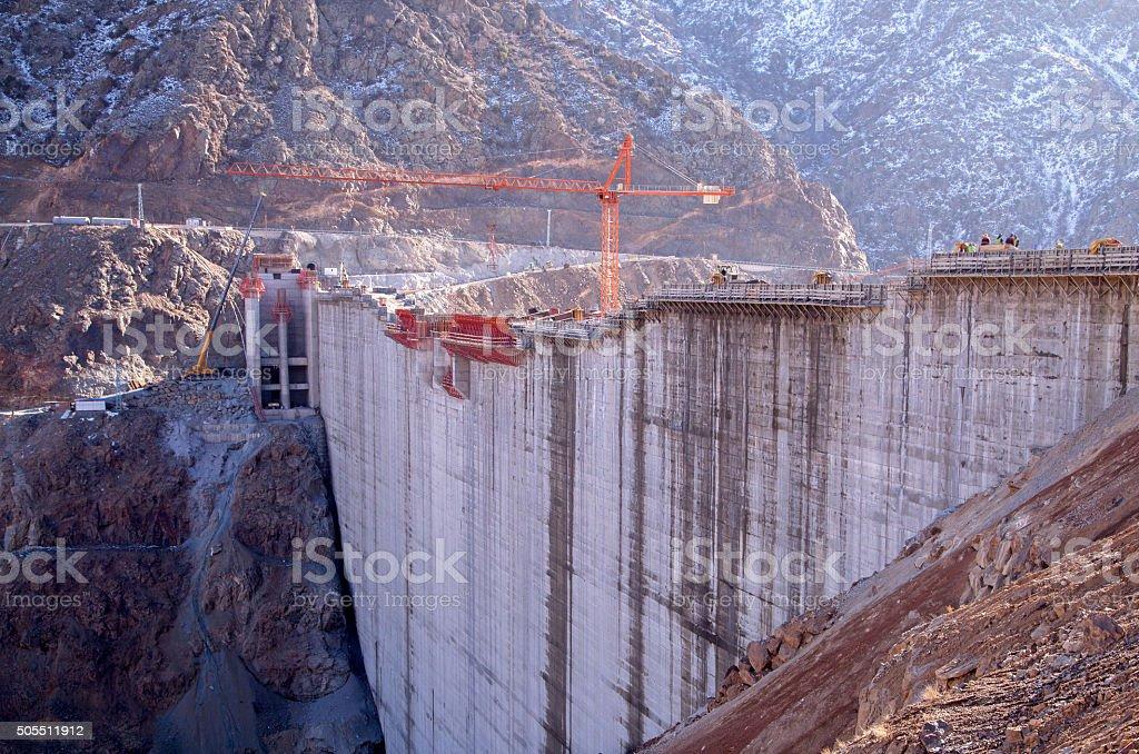 Dam de construção - foto de acervo