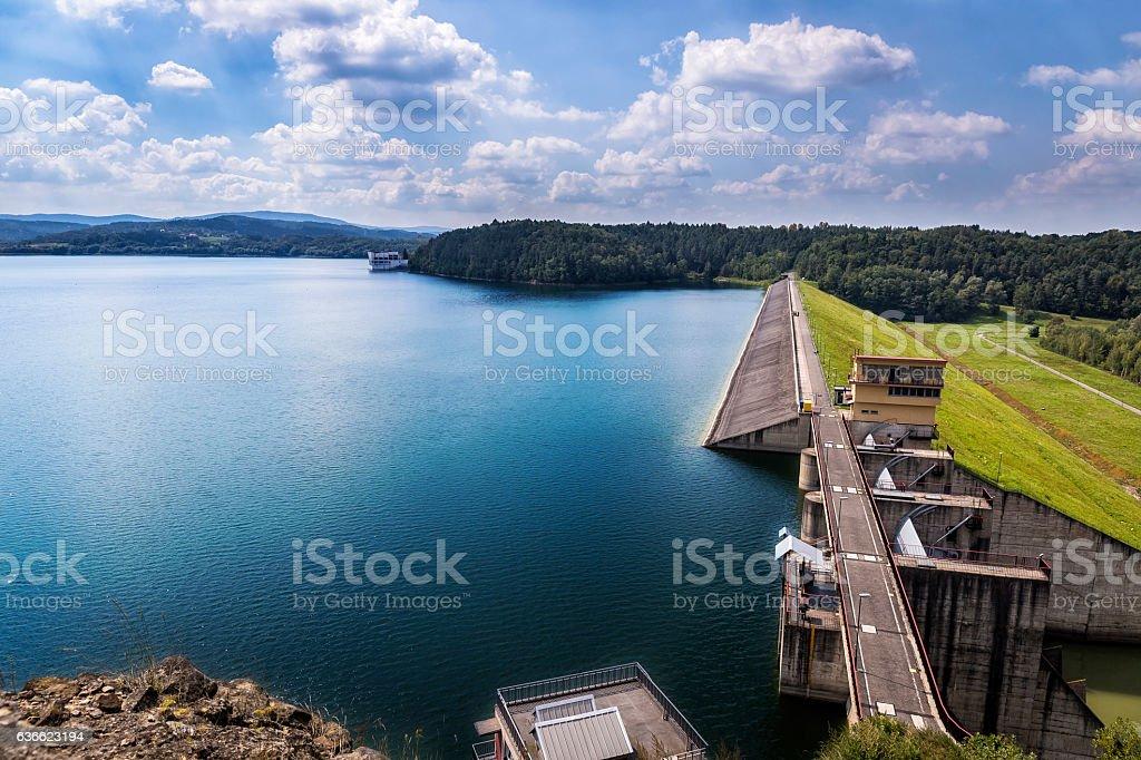 Dam in Dobczyce, Poland stock photo
