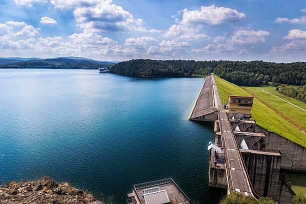 Dam in Dobczyce, Poland stock photo