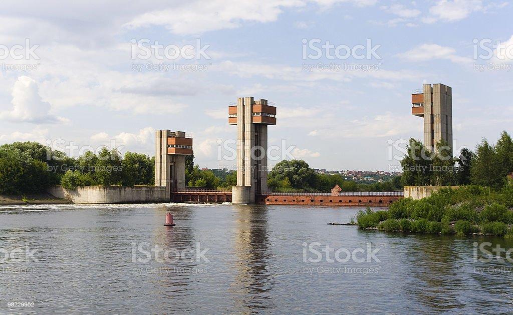 댐 in 모스코 강 royalty-free 스톡 사진