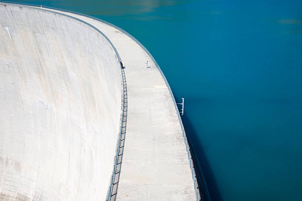 Staumauer Lac d'Emosson stock photo