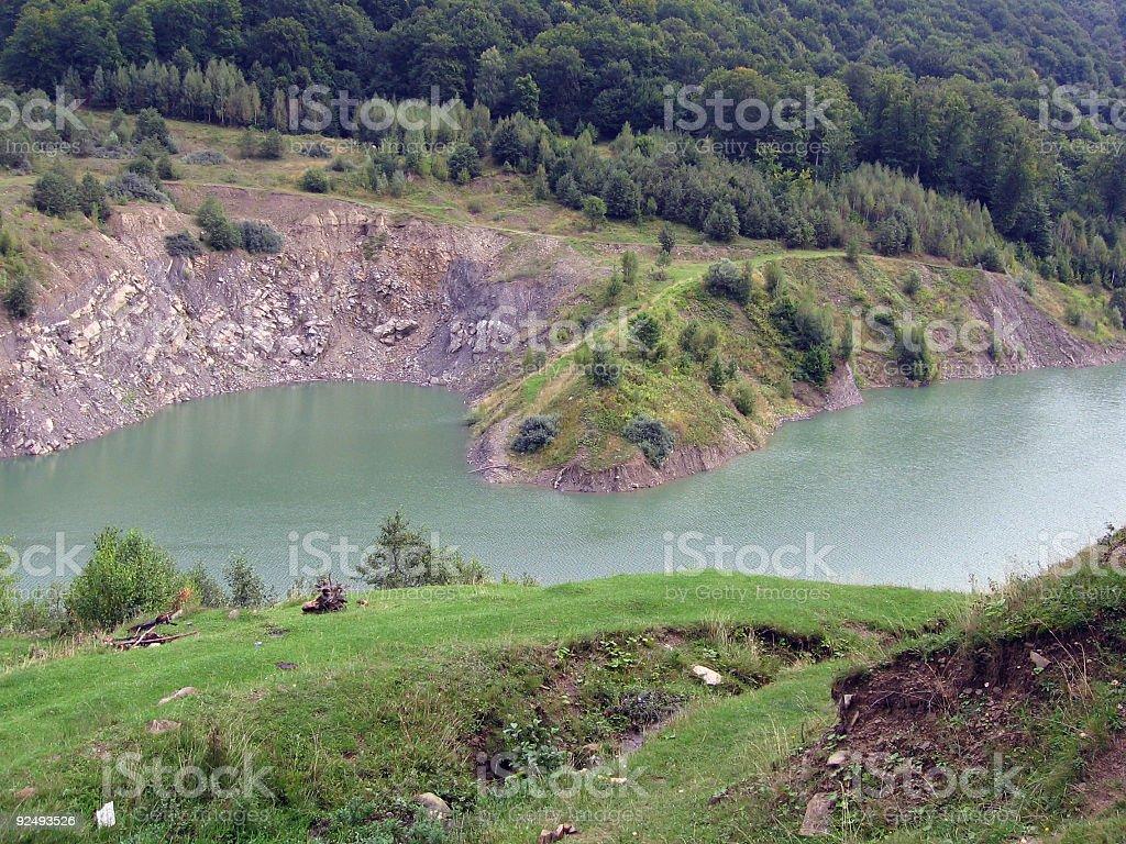 Dam lake royalty-free stock photo