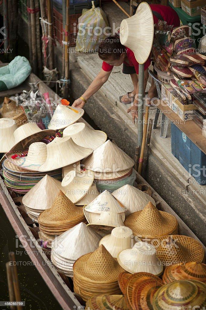 Dam Nuan Saduak floating market . royalty-free stock photo