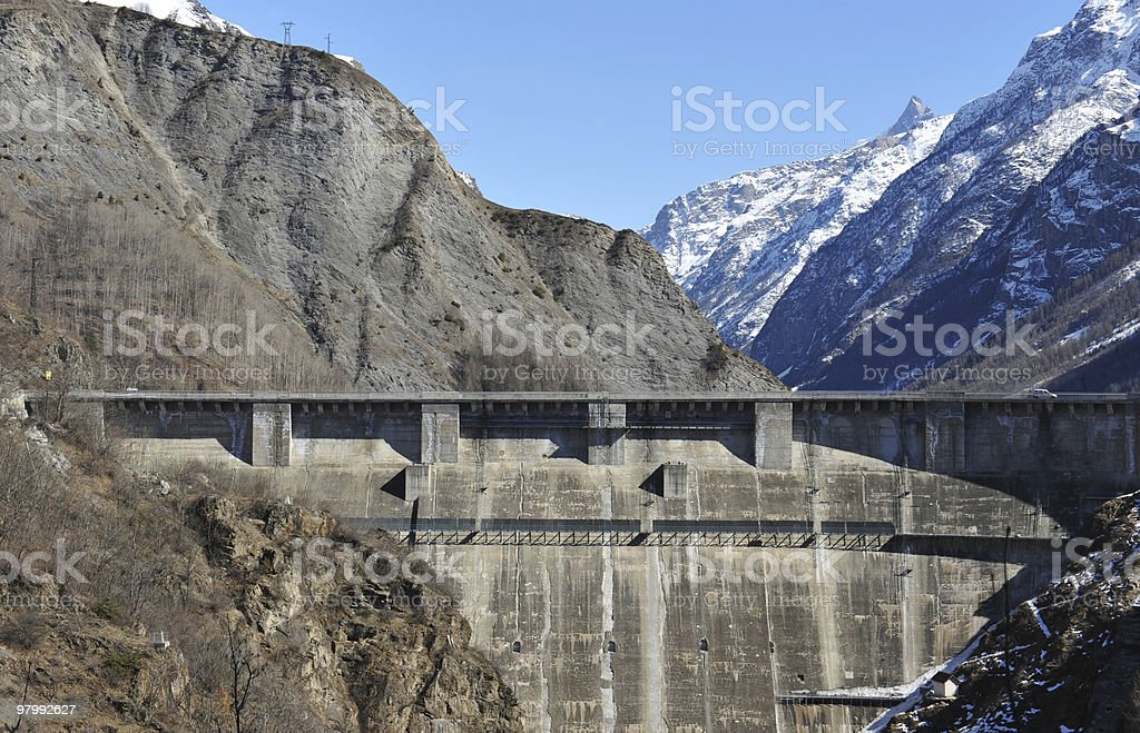 Dam of Chambon royalty-free stock photo