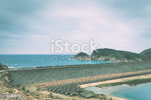 Dam of High Island Reservoir in Hong Kong