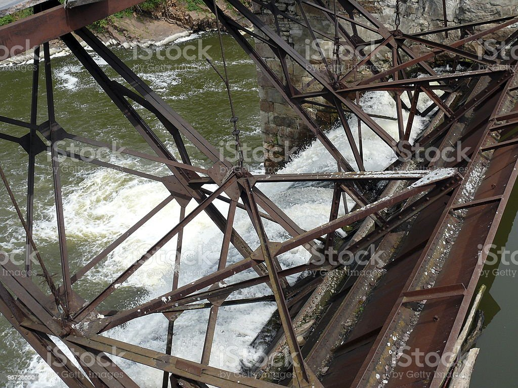Dam on Satka river - Ural royalty-free stock photo