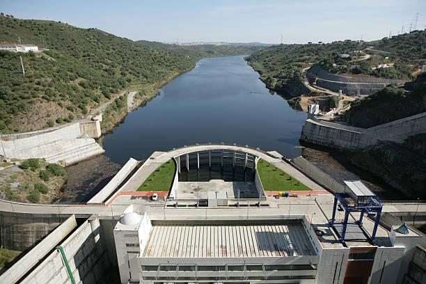 barragem do rio, hydropower de - barragem portugal imagens e fotografias de stock
