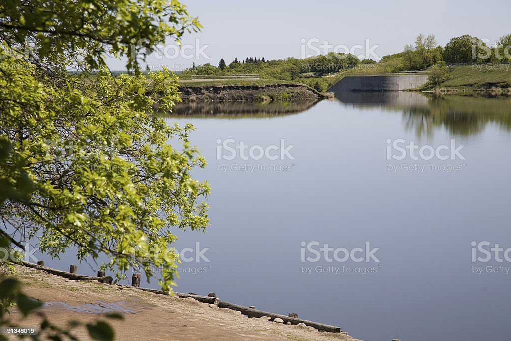 Dam Site royalty-free stock photo
