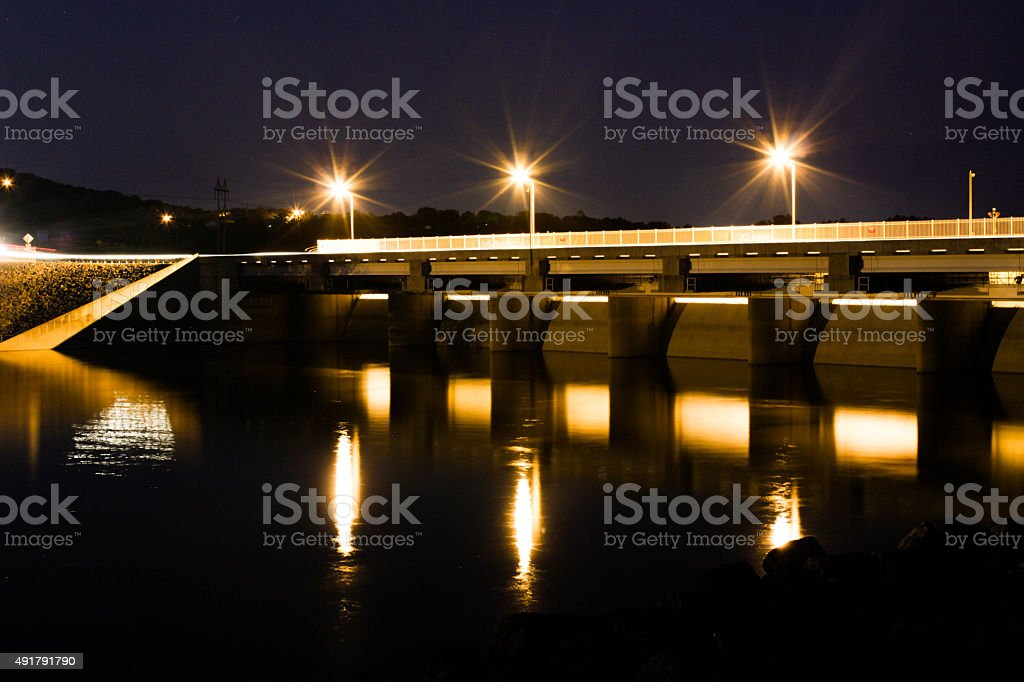 Dam Spillway at Table Rock Lake stock photo