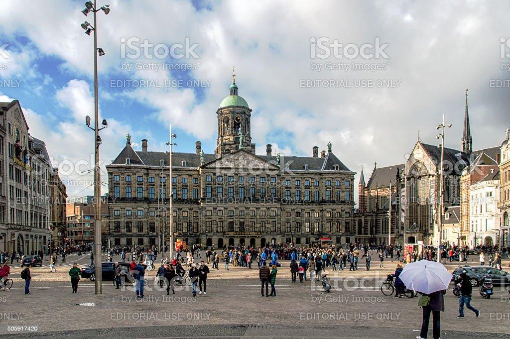 Dam Square, Amsterdam stock photo