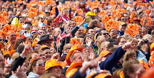 Dam square Während der Amtseinführung of King Willem-Alexander – Foto