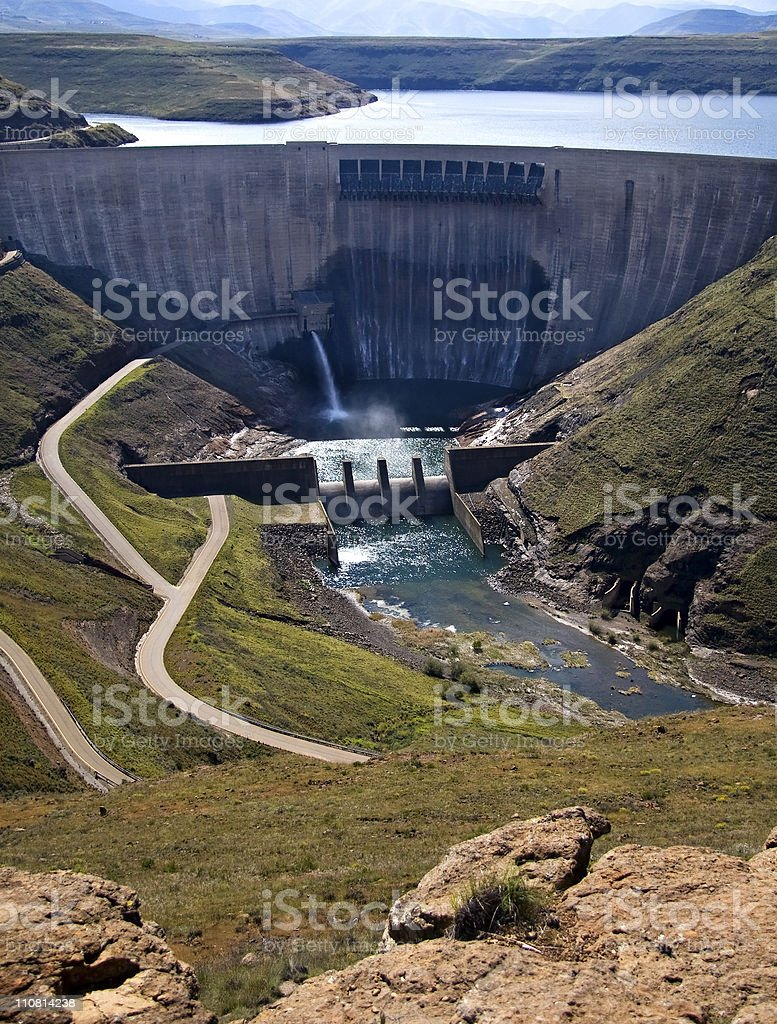 dam wall royalty-free stock photo