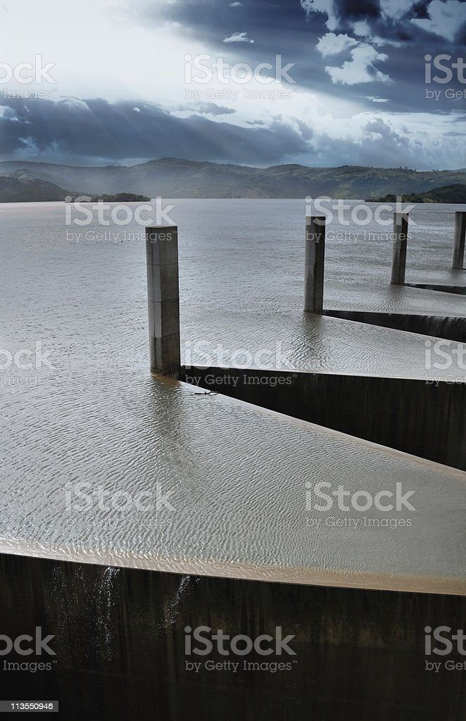 Dam wall stock photo