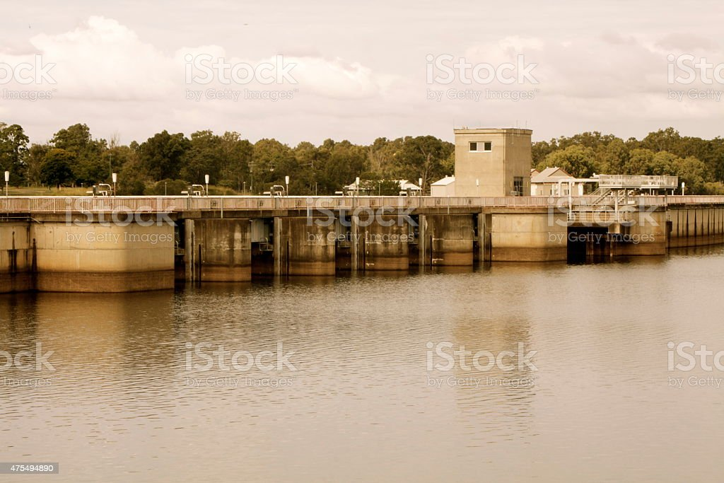 Dam Wall View, Lake Samsonvale stock photo