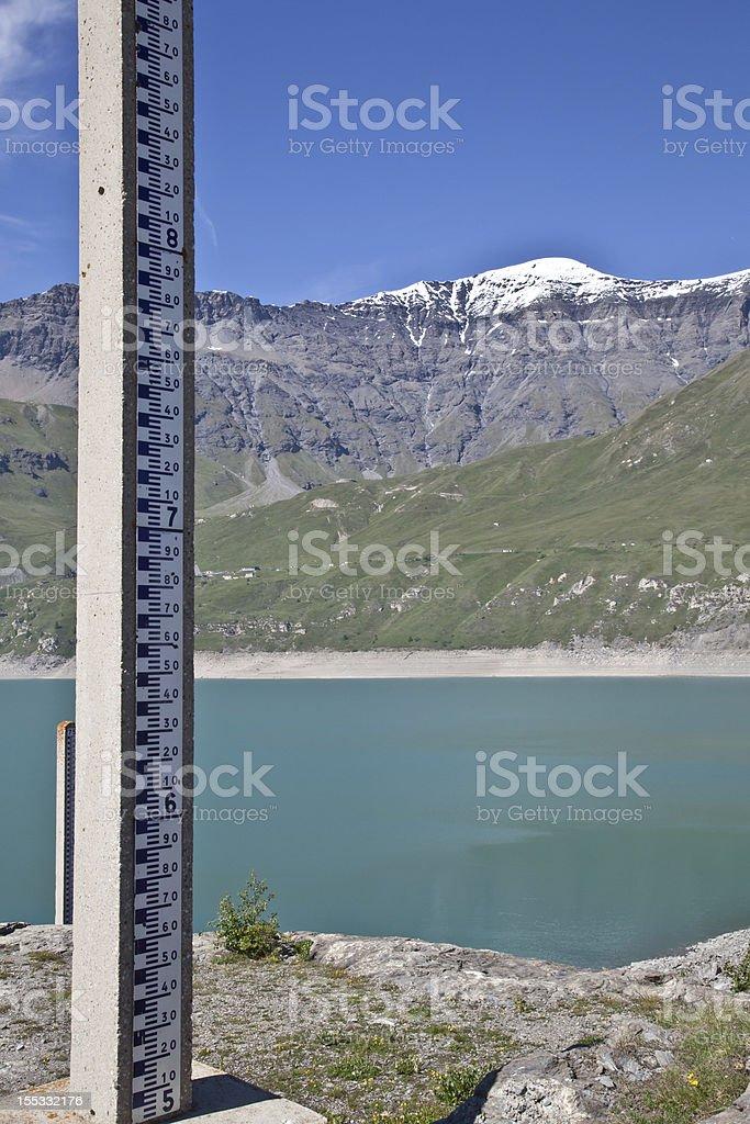 Dam water level measurement royalty-free stock photo