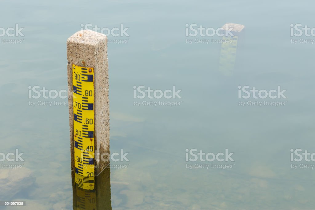 Dam water level, Watergate Index stock photo