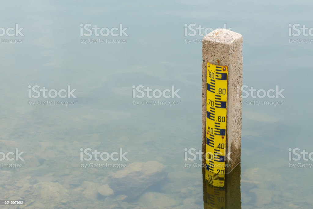 Dam water level, Watergate Indext stock photo