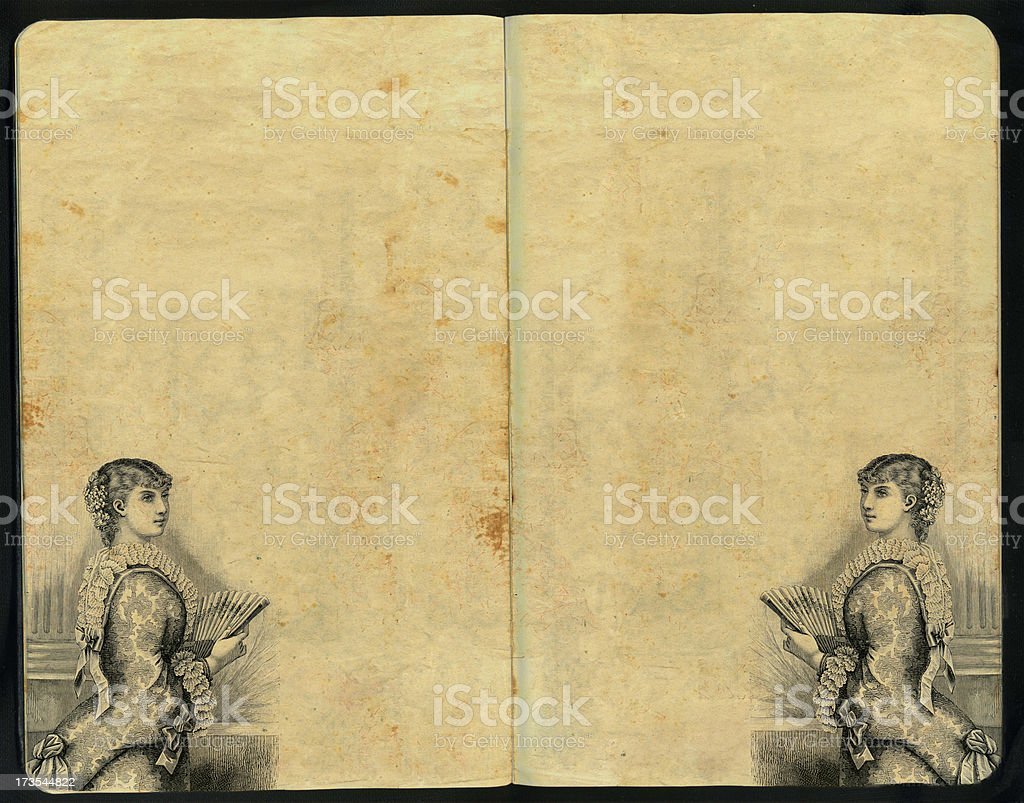 Dama del Abanico Sketch Pad royalty-free stock photo