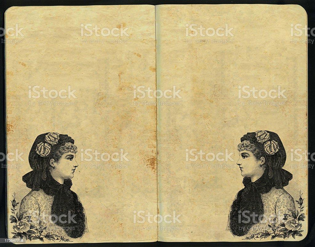 Dama del Rosedal Sketch Pad royalty-free stock photo