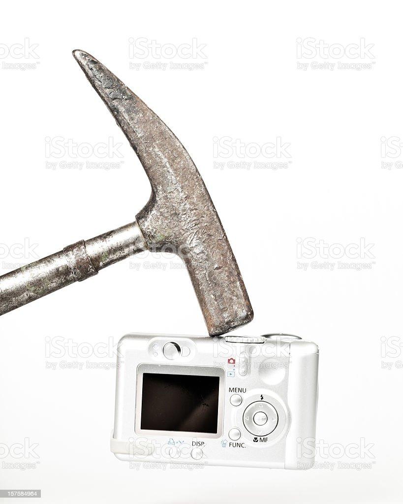 Damage an old Digital Camera royalty-free stock photo
