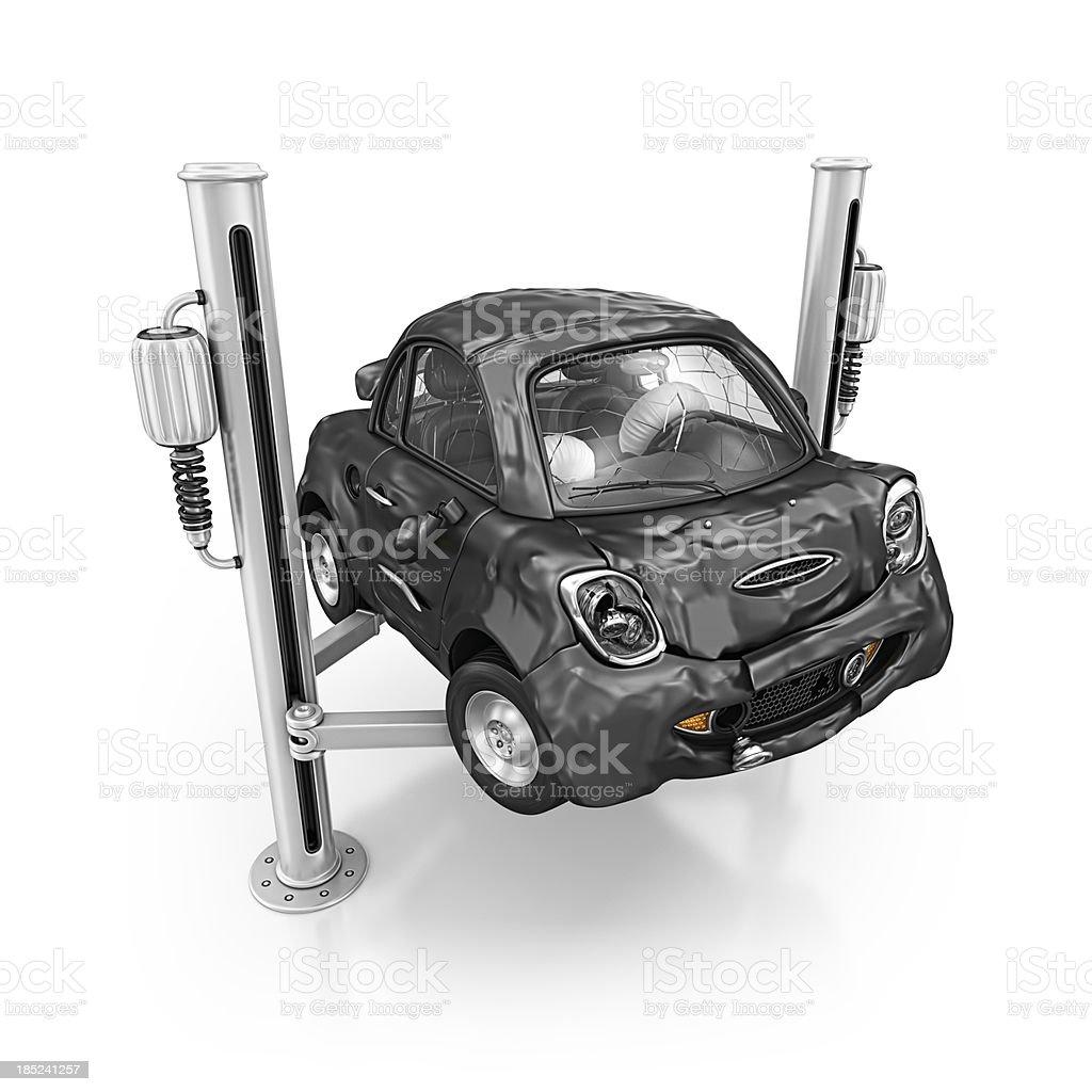 damage car royalty-free stock photo