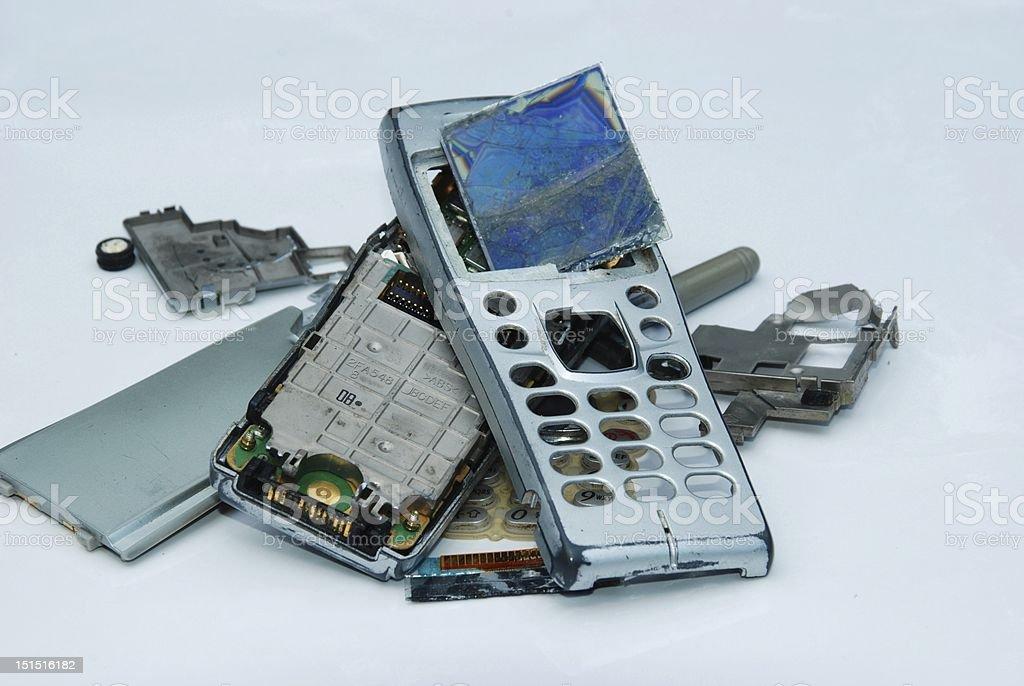 Damage phone royalty-free stock photo