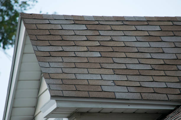 damaged and old roofing shingles on a house - dept stock pictures, royalty-free photos & images