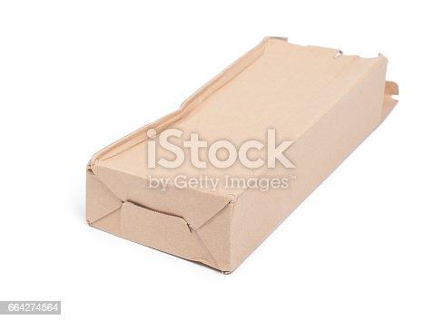 istock Damaged cardboard box 664274564