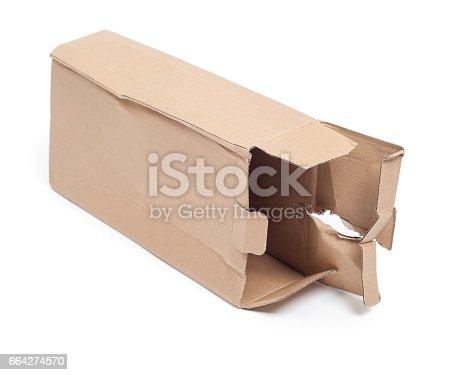 istock Damaged cardboard box 664274570