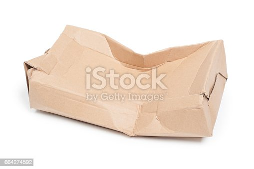 istock Damaged cardboard box 664274592