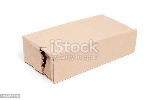 istock Damaged cardboard box 800345176