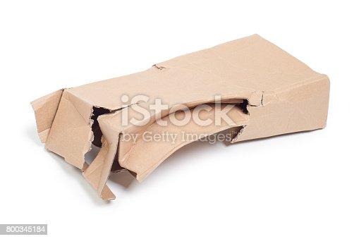 istock Damaged cardboard box 800345184