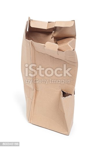 istock Damaged cardboard box 800345186