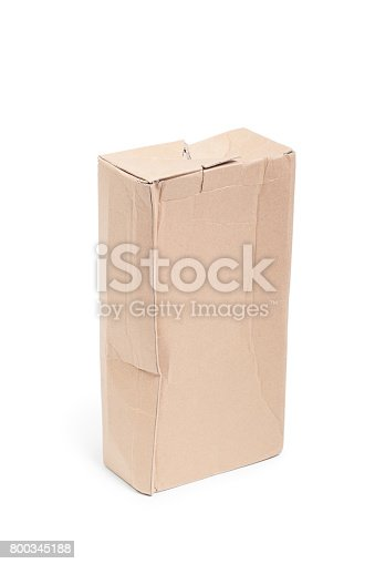 istock Damaged cardboard box 800345188