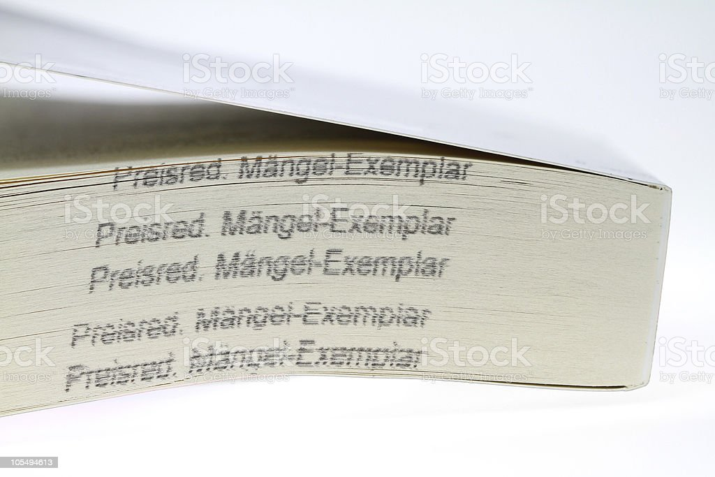 damaged copy stock photo