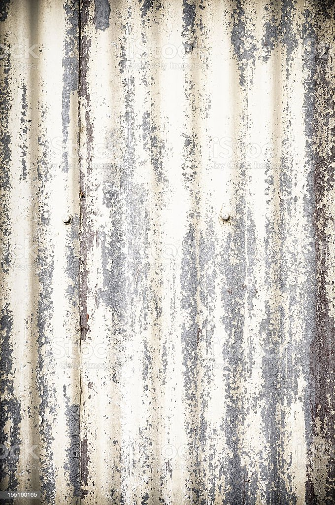 Damaged Corrugated Metal Background stock photo