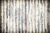 Damaged Corrugated Metal Surface Background